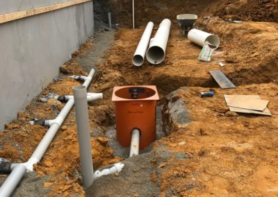 Basement storm water designs